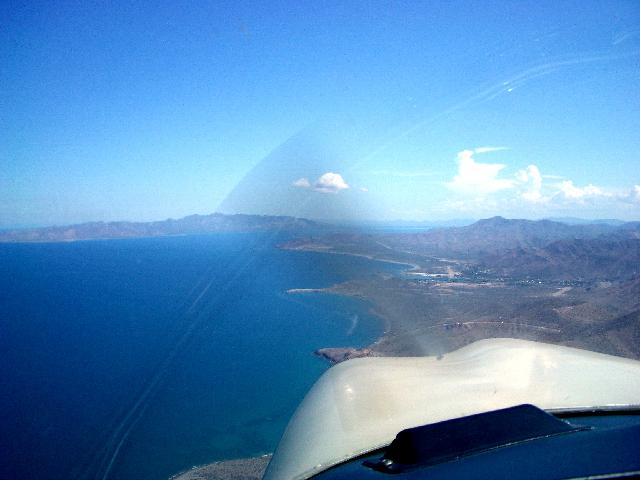 Airport in sight (straight ahead dirt runway, on the right is Mulege airport  dirt rwy