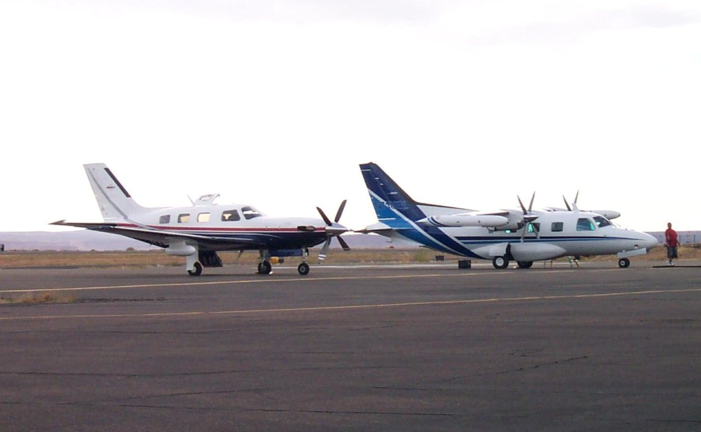 Piper and Mitsubishi Turbo Prop aircraft