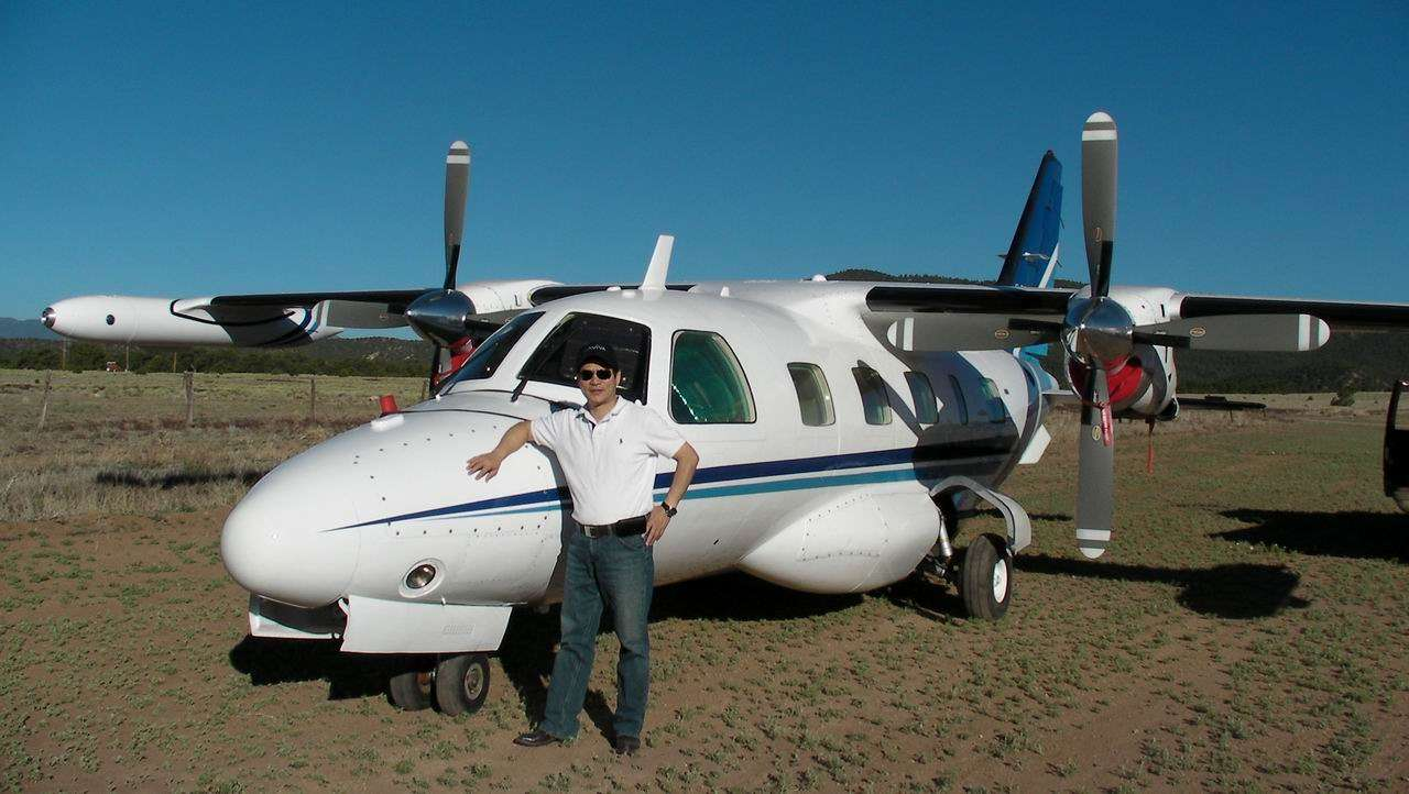 Randall MU-2B landed at Gold Field's dirt runway